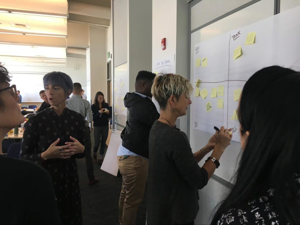 Armed with the tools from their workshop, the team is exploring more diverse perspectives through a human-centered lens.