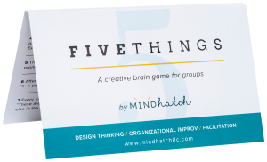 Five Things by Mindhatch Improv Card Game